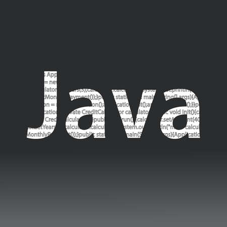 Java language sign. Vector illustration. Java programming language on a black background Иллюстрация
