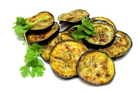 Eggplant Fry (Bagun Vazi) Banco de Imagens