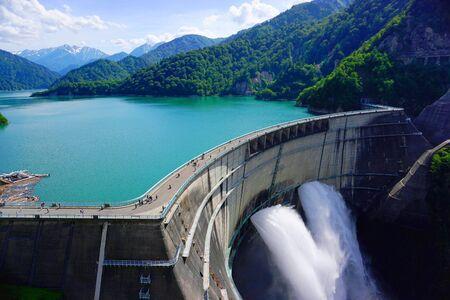 kurobe dam, kurobe alpine, Toyama Pref.,Japan Stock Photo