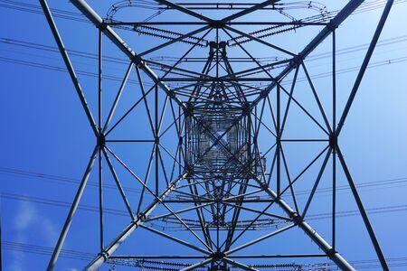 a power transmission tower, Niigata Pref. Japan 写真素材
