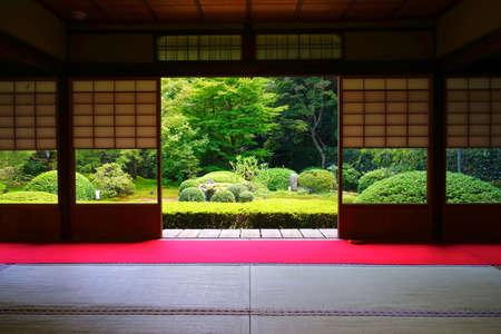 Japanese garden at Unryuin Temple, Kyoto City, Kyoto Pref., Japan