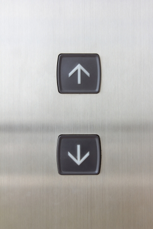 elevator black button up and down direction photo