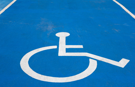 blue disabled parking sign photo