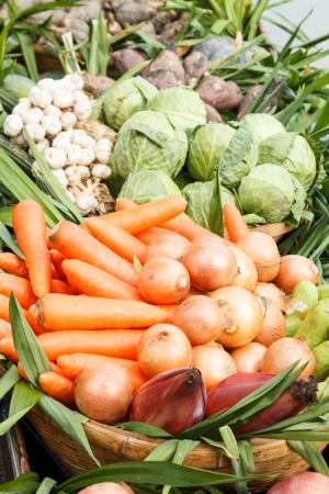 Group of fresh organic vegetables photo