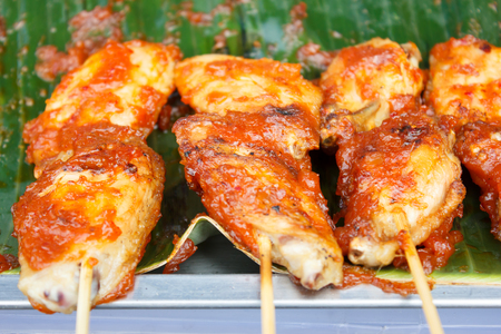 Grilled Chicken Wing with Spicy Sauce - Thai Style photo