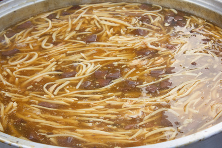 red braised: Braised Fish Maw in Red Gravy - Chinese food Stock Photo