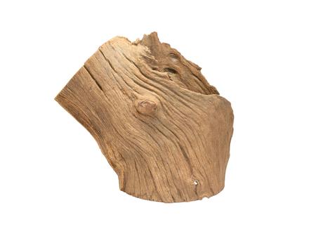 log isolated on white background photo