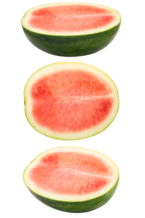 Set of watermelon isolated on white background photo