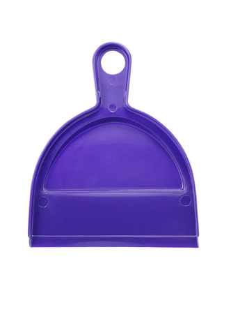 small plastic dustpan isolated on white background photo