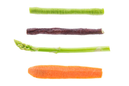 Set of cut vegetables isolated on white background photo