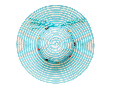 Top view cyan floppy hat