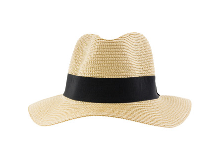 front view panama hat 版權商用圖片