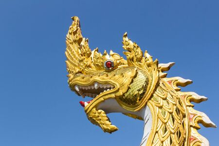 gloden: Gloden King of Nagas statue on Sky Background