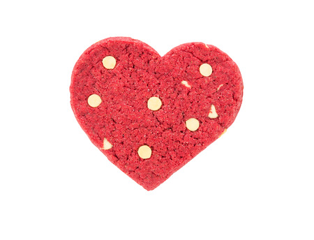 Red heart cookie photo