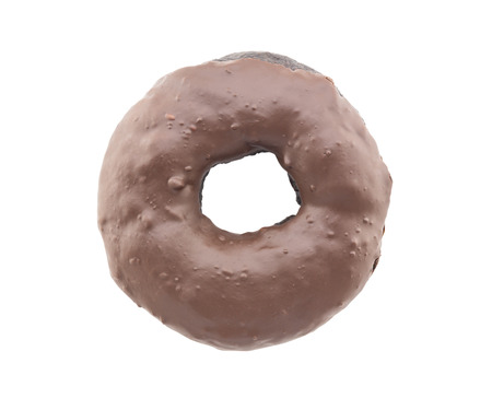 chocolate donut isolated on white background photo