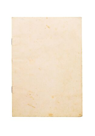 Blank old note book cover isolated on white background Stock Photo