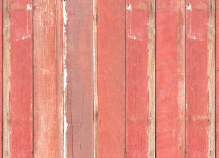 pale colour: Old red wooden wall background Stock Photo