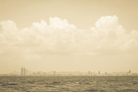 pattaya: Pattaya city skyline in thailand