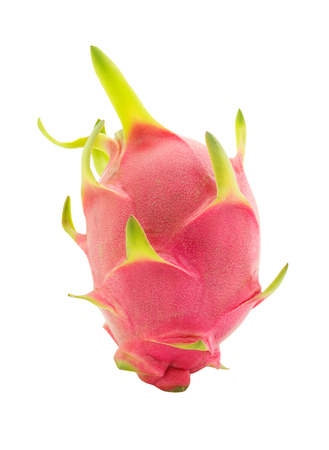 dragon vertical: Dragon fruit or pitaya isolated on a white background