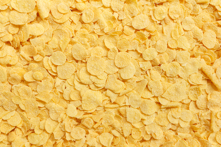 yellow crispy cornflakes for background