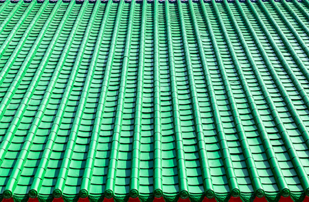 green tile roof background, chinese style