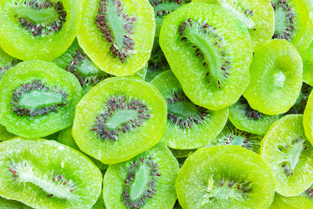 Top view of dried kiwi for a background