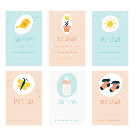 Set of baby shower invitation Collection
