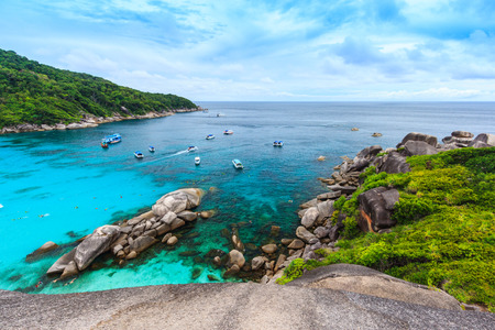 viewpoint: Similan island viewpoint in Thailand Stock Photo