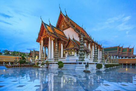 thep: Wat Suthat Thep Wararam is a Buddhist temple in Bangkok, Thailand. Stock Photo