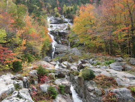 cascade: Silver Cascade Waterfall Stock Photo