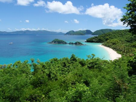 st  john: Trunk Bay St John, UVSI Stock Photo