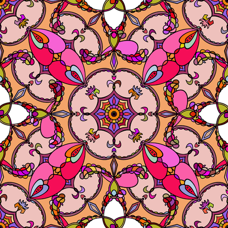 Vector. Beautiful vintage seamless texture. pattern in pink
