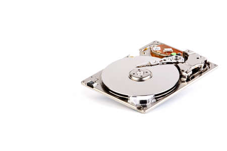 internals: 1.8 inch hard disk drive  Isolated on a white background