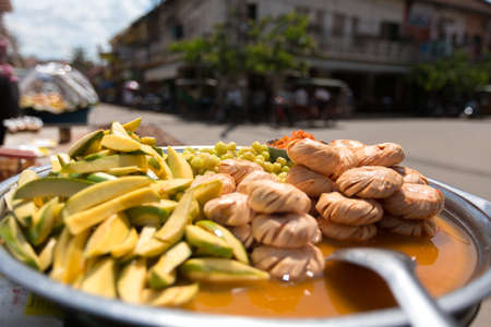 souse: local fruits on the street in marinade souse