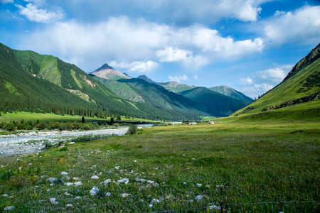 xinjiang: ili Zhaosu xiata, Xinjiang paysages Banque d'images