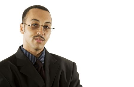 Portrait of a young professional African-American male. photo