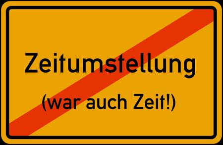 Zeitumstellung Winterzeit Sommerzeit abgeschafft European Union daylight saving time conversion disestablished abolished Stockfoto
