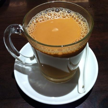 tarik: Hot milk tea