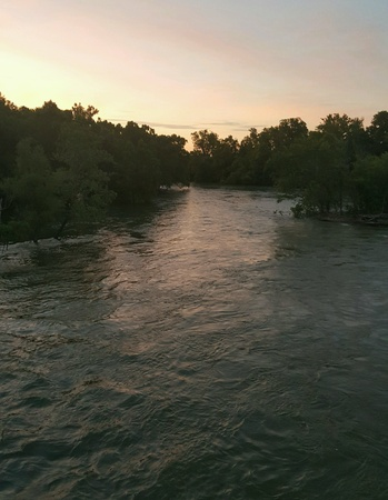 Floating down river Stock fotó