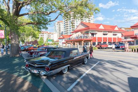 Penticton, British ColumbiaCanada - June 22, 2019: vintage Ford Galaxie Fairlane on display at the Peach City Beach Cruise, a popular annual car show