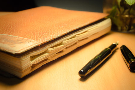 old diary and pen photo