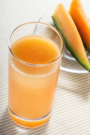 melon pieces and juice photo