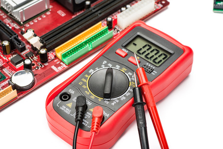 multimeter on the white background photo