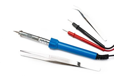 nipper: soldering iron and tools Stock Photo