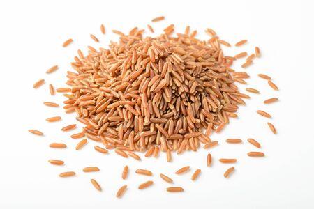 arroz blanco: arroz rojo