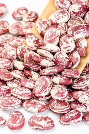 runner bean: runner beans on the white background