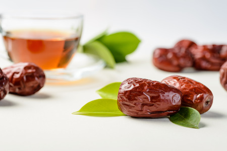 jujube: dried date fruit, dry jujube fruit Stock Photo
