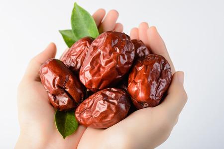 jujube fruits: dried date fruit, dry jujube fruit Stock Photo