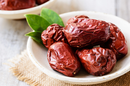 date fruit: dried date fruit, dry jujube fruit Stock Photo