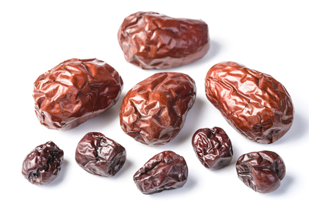 date fruit: dried date fruit on the white background